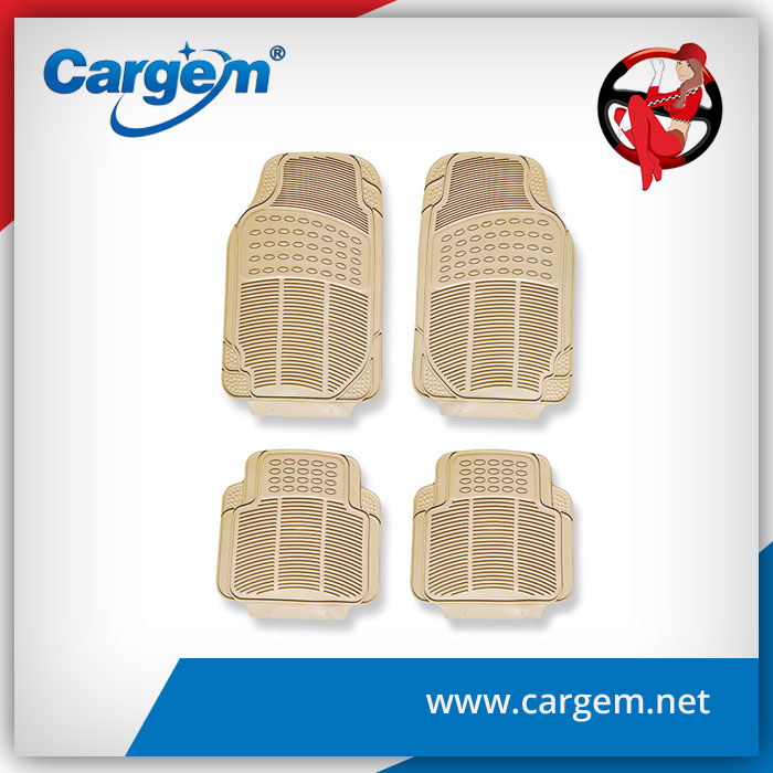 CARGEM wholesale decorative auto beige pvc car floor mat