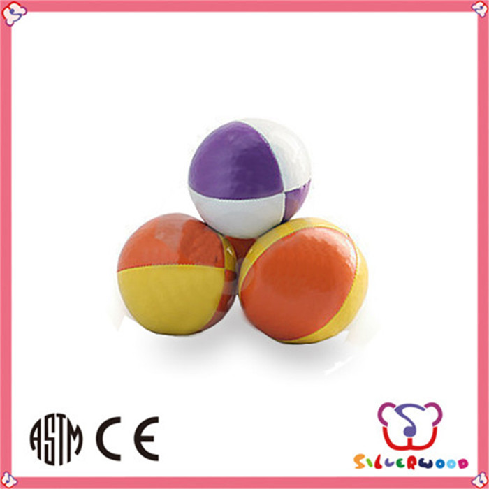 For sales promotion Phthalates free soft vinyl stuffed juggling ball