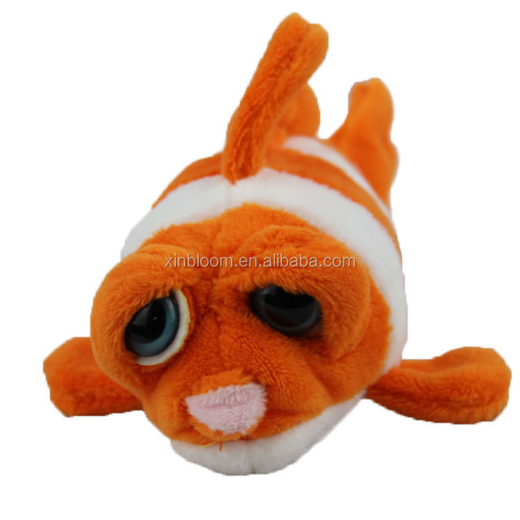 creative hot-selling ocean animal style 9cm height stuffed plush fridge magnet toy doll