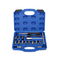 17pcs diesel injector seat cutter set cleaning Tool