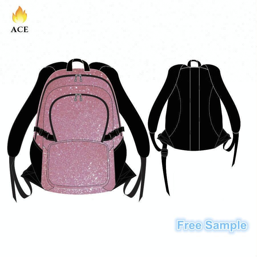 OEM <strong>Backpack</strong> With High Quality waterproof Metallic fabric,Custom Cheerleading <strong>Backpack</strong>