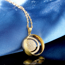 Paved Setting Powered Pendant Necklace Pendants Silver Pendant 1 Gram Gold Jewellery