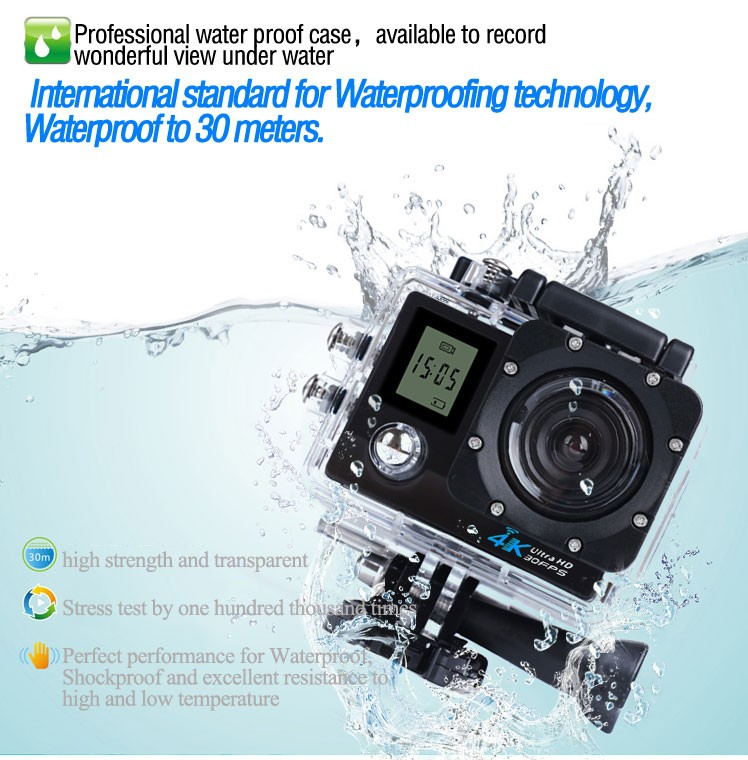 Cooldragon FX K1 sports camera K1 4K with wifi 4K 2.0 inch Screen long time work Loop record stop-motion record wifi