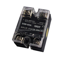 AC & DC Solid State Relay 80A, Single Phase SSR-80DA Replace Crydom SSR (IBEST)