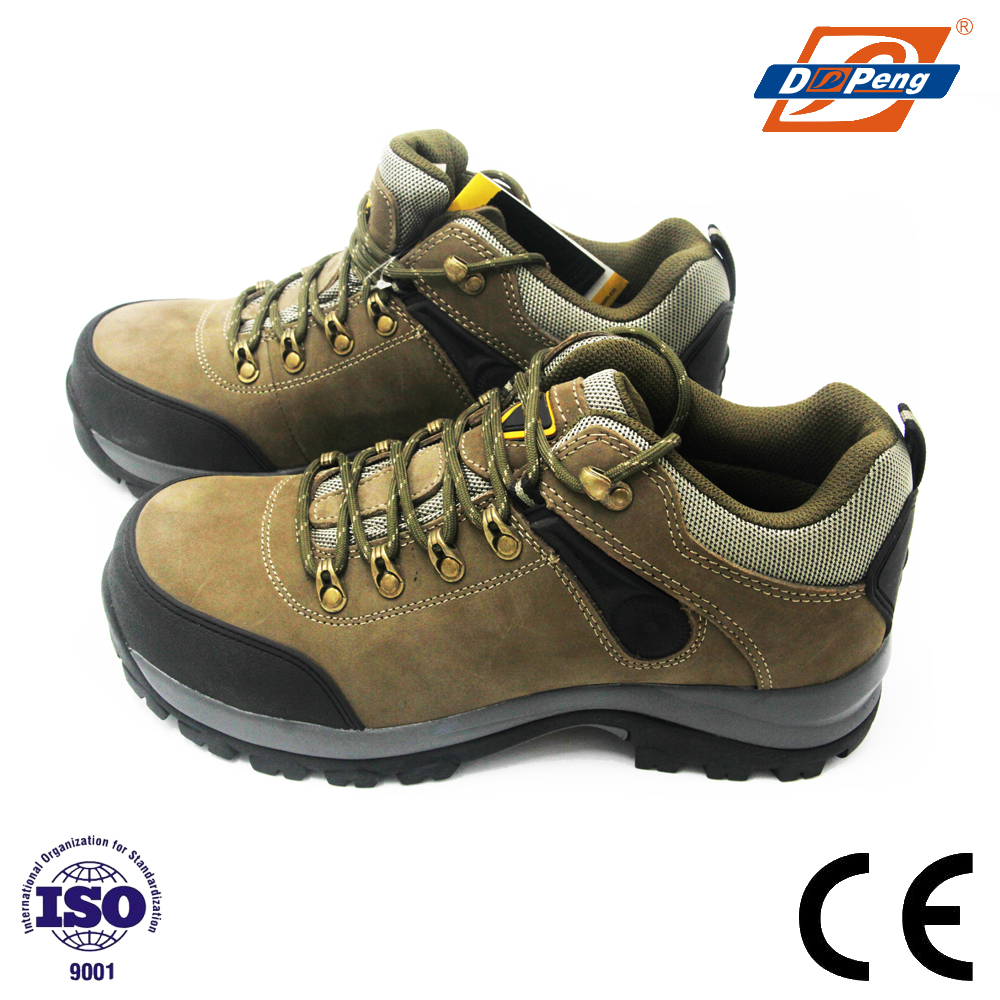 women Nubuck casual SRC climbing boots high heel safety shoes