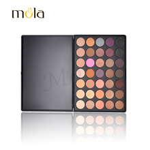 China suppliers professional 35 eyeshadow manufacturer mola cosmetics eyeshadow shiner