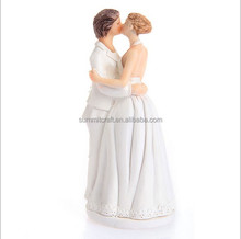 Resin love lesbian wedding couple figurine