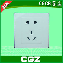CGZ Brand 2015 energy saving white wall socket hot sale with good quality