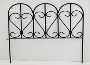 antique style garden cheap wrought iron fence ornaments small decorative metal fencing wholesale
