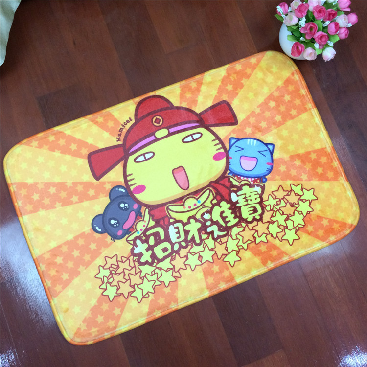 Comercial Use Whole Set Microfiber Toilet Mat with Cartoon Design Printing
