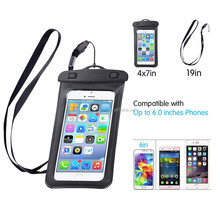 Water Proof PVC Bag Customized Logo Phone Bag Armband Pouch With Audio Jack For 4.5-6 inch Mobile Phone