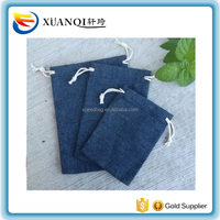 Dark Blue Jean Gift Bags 8x10cm 9x12cm 10x15cm 13x18cm pack of 50 Muslin Denim Makeup bag Jewelry Packaging Pouch