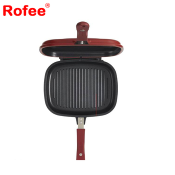 Non-stick Aluminum Double Sided Grill Pan