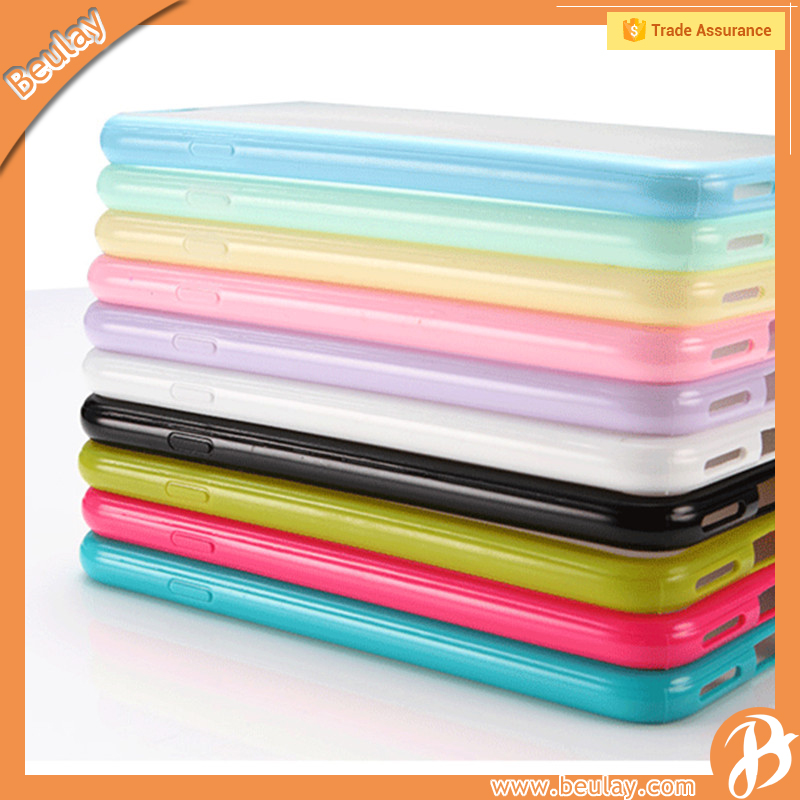 Wholesale rubber cell phone case for iphone 6 tpu +pc bumper frame