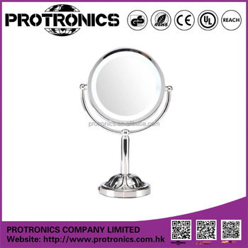 JM-701 Battery Operated LED lighting Mirror Table Mirror