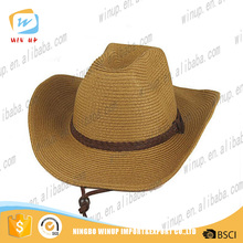 Winup Wholesale Handsome Cheap Farmer Cowboy Straw Hat Blank Bucket Hat