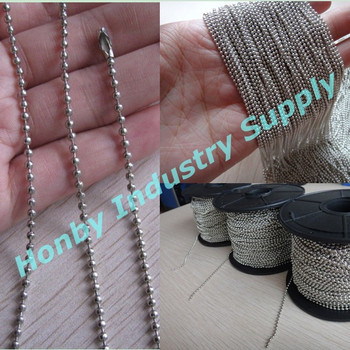 Attractive 1.5mm Silver Color Metal Ball Bead Chain