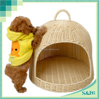SD Classic Handicraft Pet House Wholesale Rattan Indoor Dog House
