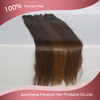 Grade 7A 30 inch natural brown color virgin Russian straight hair weft