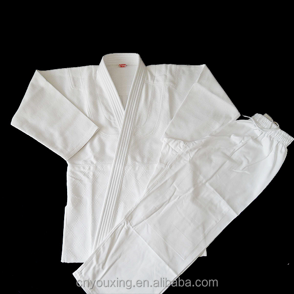 White 100% cotton bamboo fabric Judo Uniform