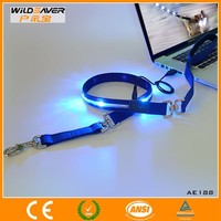 Blue LED Retractable Dog Lead With Certificate
