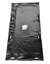 Black Vinyl Transport Body Bag with 8 Padded Handles
