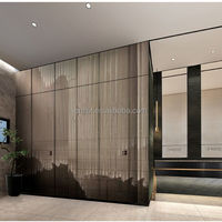 Interior decorative glass wall, ceramic silkscreen laminated glass, ceramic frit partition glass