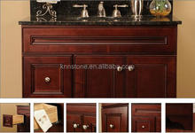 Cherry Assembled Bathroom Cabinets with Black Granite Vanity Tops