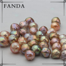 11-14mm Metallic Color Large Baroque Pearls, Uneven Multicolor Freshwater Nuclear Pearl Wholesale,Edison Pearl Wholesale Price