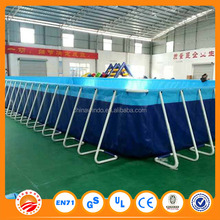 Above Ground Swimming Pool square metal frame pool with cover