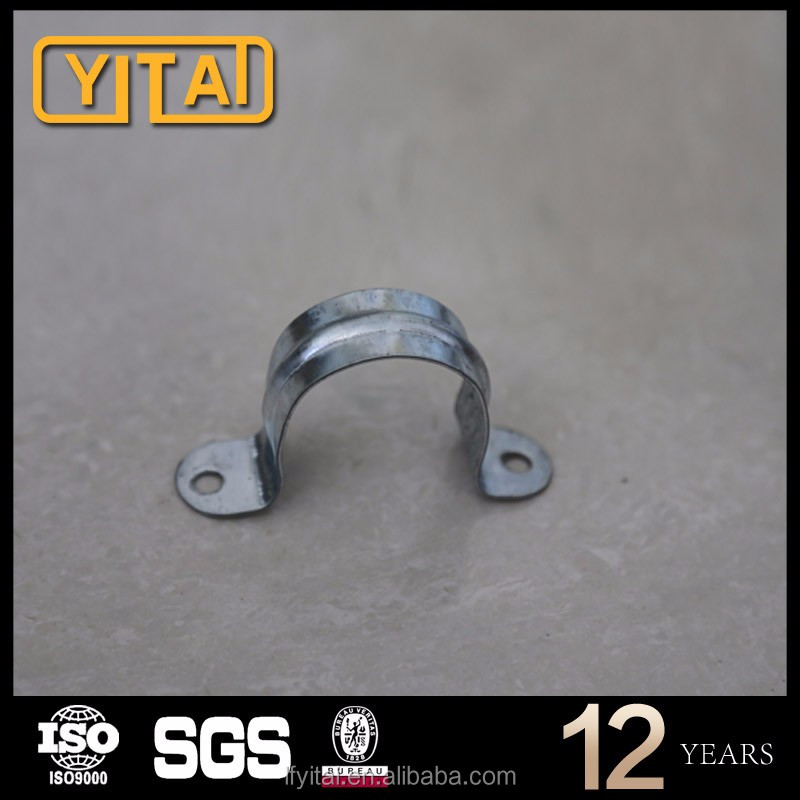 galvanized malleable iron round metal pipe hangers clamps