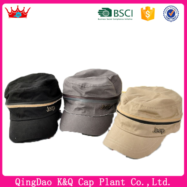2016 New arriveal flat top military cap for sale