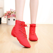 Men Women Sports Dancing Sneakers Lace Up Boots Jazz Dance Shoes