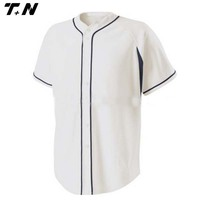 Plain blank stripe button down baseball jersey wholesale, baseball shirts