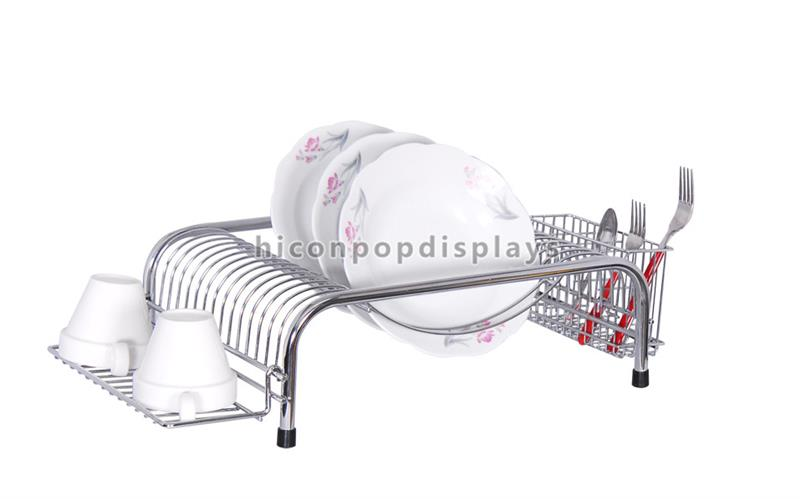 Table Top Multi-Function Stainless Steel Custom Plates Serving Dishes And Tea Cup Plate Display Rack