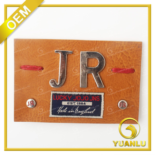 2015 Leather Labels Metal LOGO for Handbag YL-196