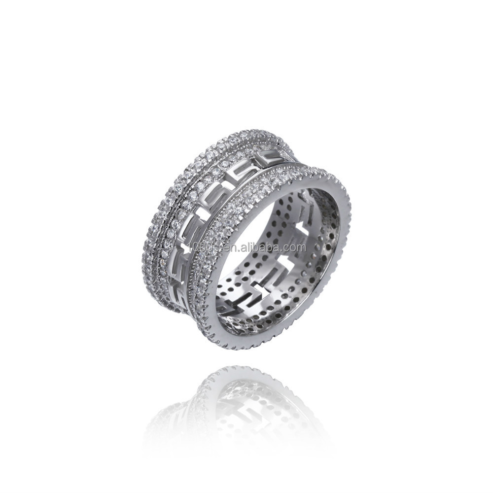 925 sterling silver Pave Setting Hot Sale Rings Jewelry Wholesale factory- RS03532