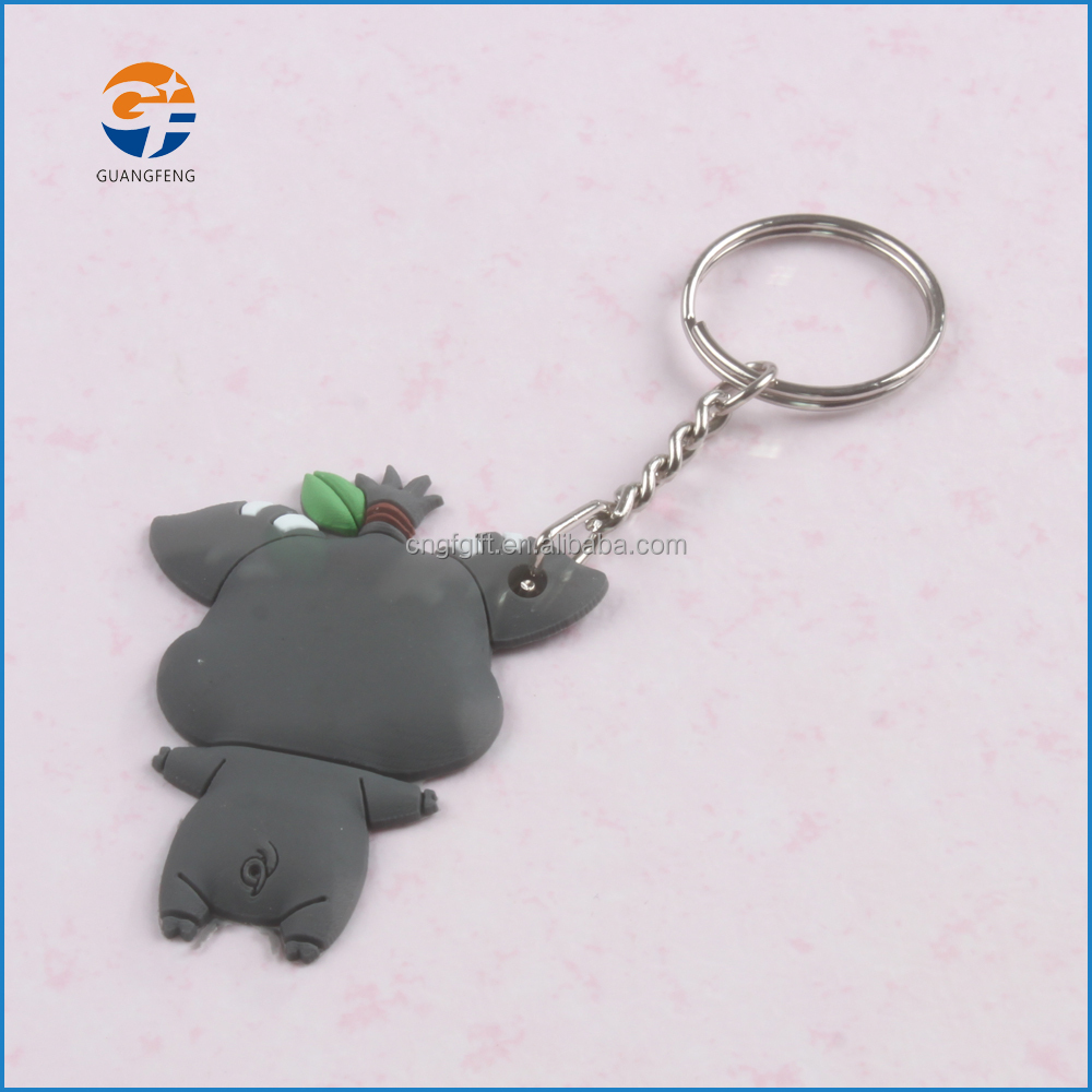 Promotion 3D Cartoon Characters Soft PVC Rubber keychain,Custom 3D shaped keychian