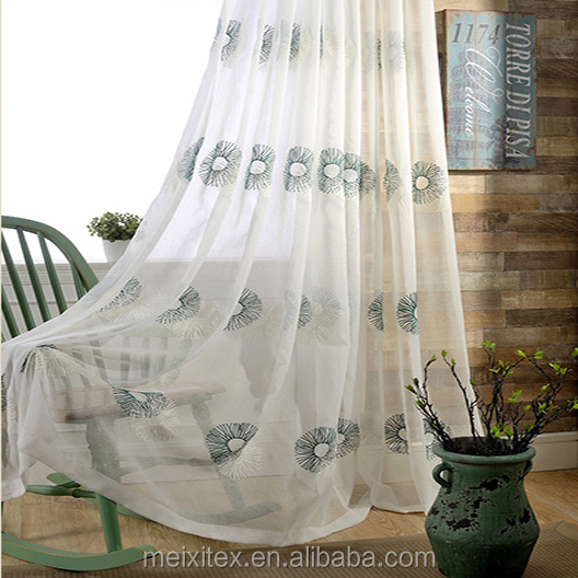 luxury turkish office hotel door kitchen jacquard embroidery designs blackout ready made sheer voile fabric curtain