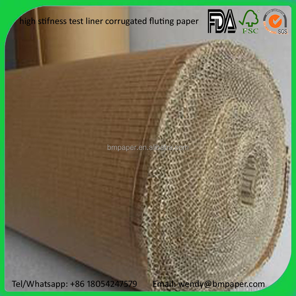 China Factory Price Wholesale C/E/F flute Test Liner Fluting Paper for carton & package