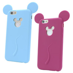 rabbit ear silicone mobile phone case for