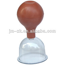 Different sizes Europe popular red rubber medical cupping