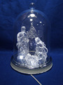 Acrylic Christmas Hanging Ball Baby Blocks Decorations with Color Changing LED