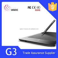 UGEE G3 Interactive Graphics Tablet for Drawing 9 x 6 Inch - Black