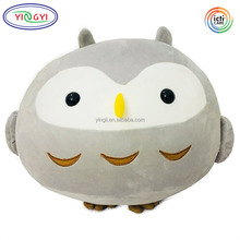 D931 Round Stuffed Owl Plush Animal Soft Pillow Toy Home Decorations Birthday Gift Plush Stuffed Owl Toy
