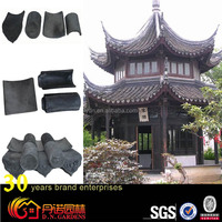 classical garden chinese clay roof tiles used in pavilion for sale
