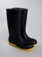 CE cheap black livestock farm pvc rainboot most popular irrigated land gumboots out door gardening wellies manufactory
