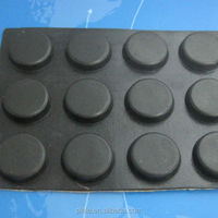 supply rubber foot feet 1.5mm round black