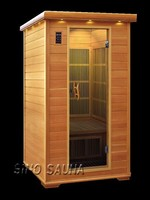 2 person wood sauna infrared individual with far infrared carbon heater