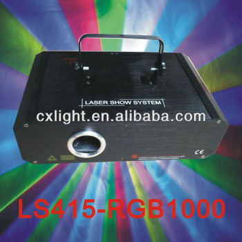 Full Colors 1W Animation Laser Light with ILDA&30Kpps
